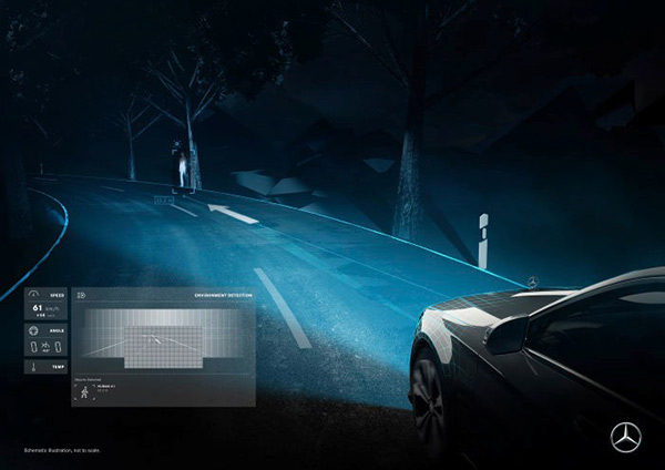 Mercedes-Benz Digital Light chodec