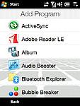 Programy - Přidání aplikace