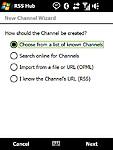 Přidání kanálu