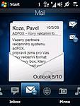 Pošta - přehled emailů
