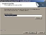 Vyberte místo, kam si aplikace rozbalí instalační soubory