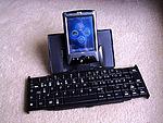 iPAQ s rozkládací klávesnicí