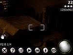 Ovládací aplikace fotoaparátu (na displeji se promítá i vybraný filtr, toto je Sépie)