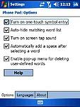 Nastavení PhonePad