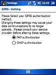 Nastavení GPRS