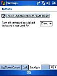 Nastavení podsvícení klávesnice